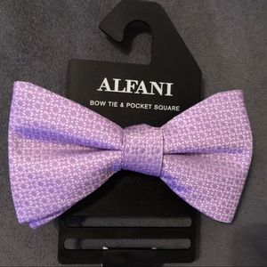 Alfani Purple Bow Tie
